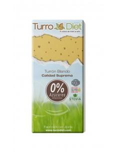 Turrón blando con Stevia Sin Gluten - Turrodiet