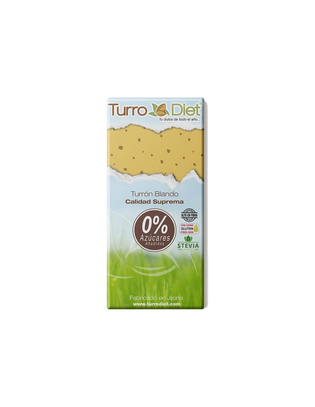 Soft nougat with Stevia Gluten Free, Turrodiet - La ...