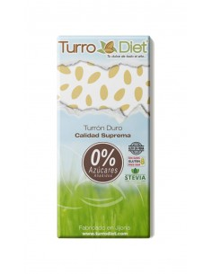 Hard nougat with Stevia Gluten Free - Turrodiet