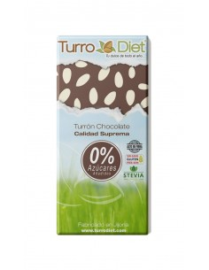 Turrón chocolate con Stevia Sin Gluten - Turrodiet