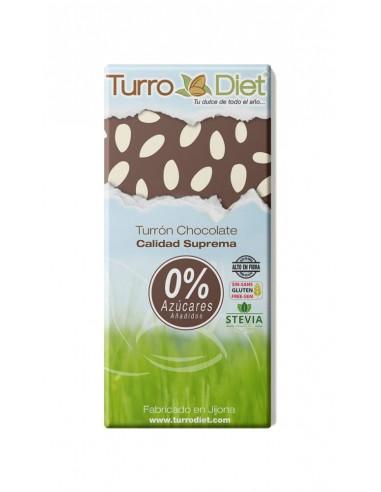 Turrón chocolate con Stevia Sin...