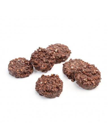 Rocas de chocolate negro 70% Cacao