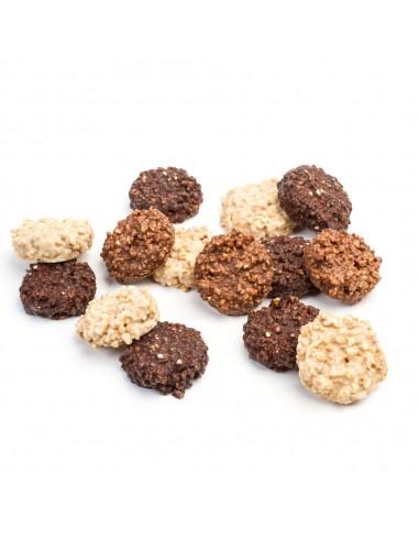 Rocks three chocolates and almond