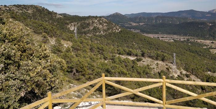 Vista interior mirador La Carrasqueta