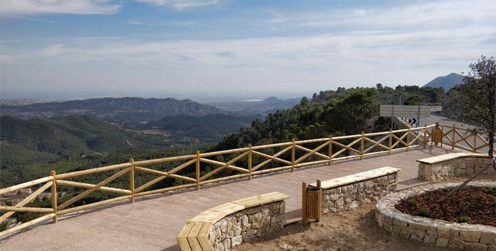 Vistas mirador La Carrasqueta
