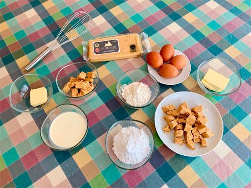 Ingredientes Coulant Turrón La Carrasqueta